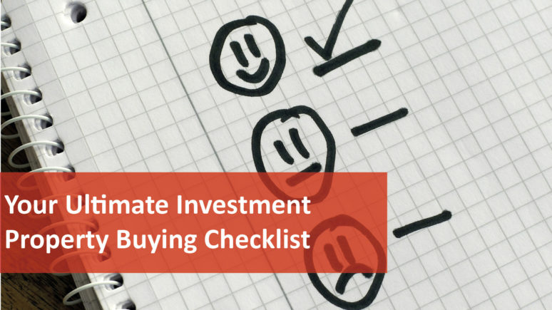 We Love Rentals Ultimate Investment Property Checklist