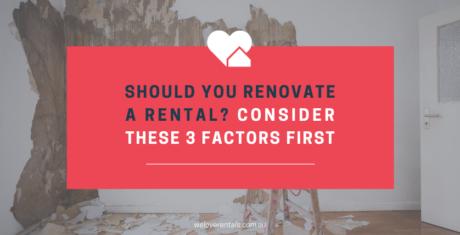Should you renovate a rental