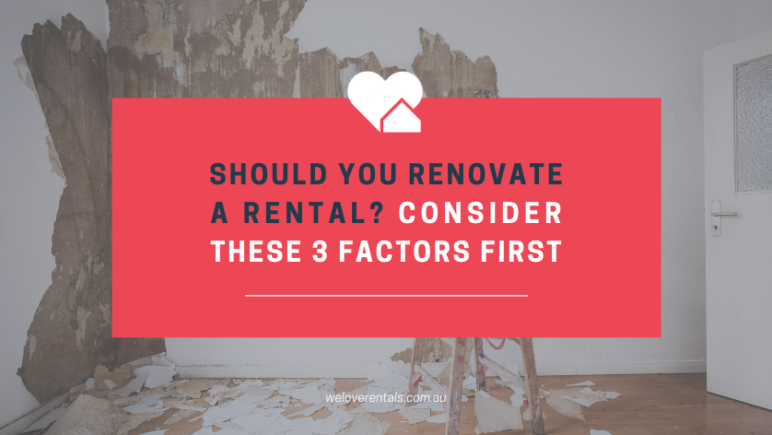 Should you renovate a rental