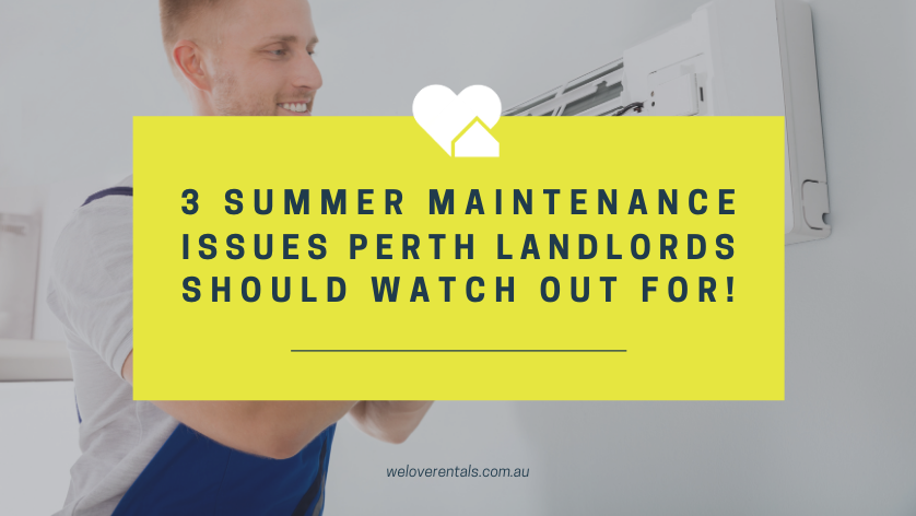 rental property maintenance in summer