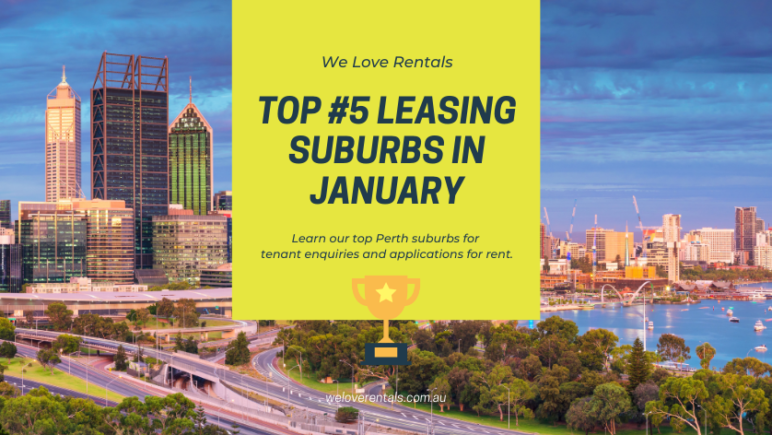 top 5 leasing suburbs in Perth january 2021