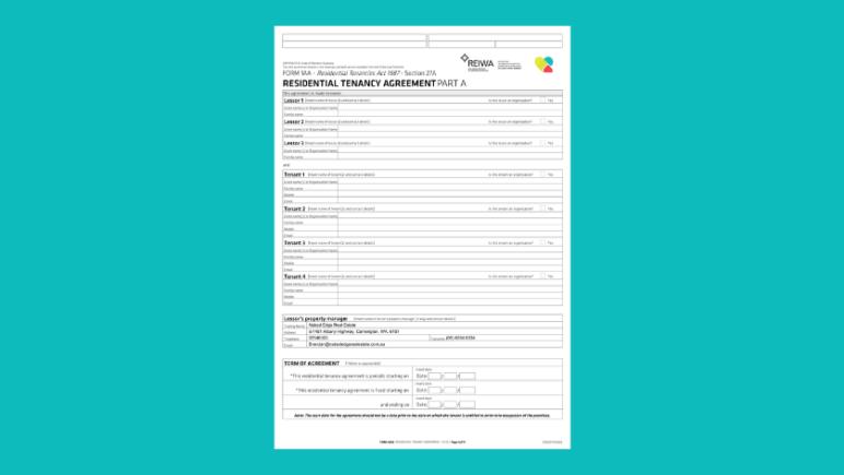 tenancy agreement rental property