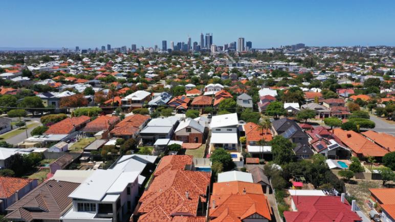 Perth aerial of residential properties